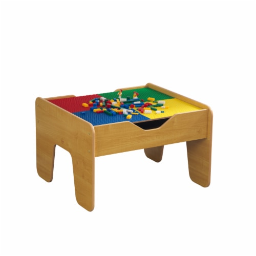 KidKraft 2-in-1 Activity Table with Board - Natural Perspective: front