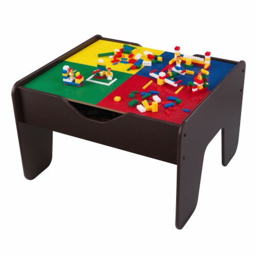 KidKraft 2-in-1 Activity Table with Board - Espresso Perspective: front