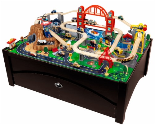KidKraft Metropolis Train Set & Table Perspective: front