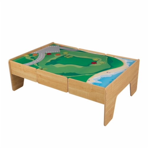 KidKraft Wooden Play Table - Natural Perspective: front