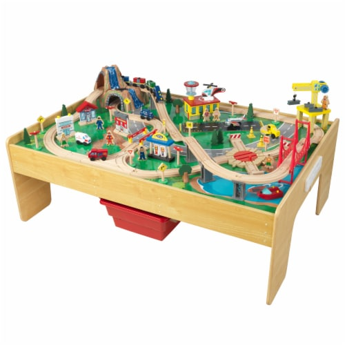 KidKraft Adventure Town Railway Train Set & Table with EZ Kraft Assembly™ Perspective: front