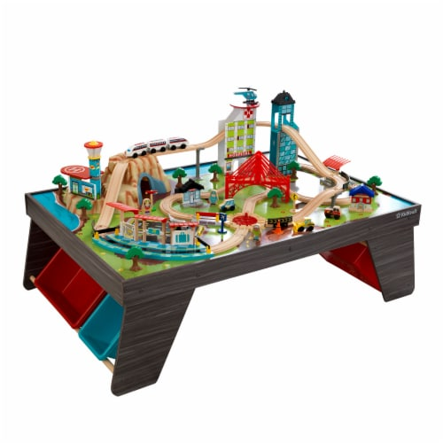 KidKraft Pacific Railway Train Set & Table Perspective: front