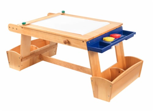 KidKraft Art Table with Drying Rack & Storage Perspective: front