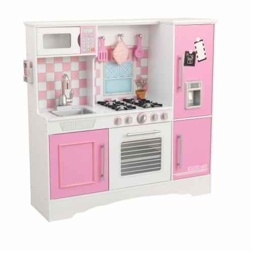KidKraft Culinary Play Kitchen - Pink Perspective: front