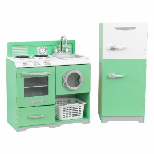 KidKraft Homestyle 2 Piece Kitchen Perspective: front