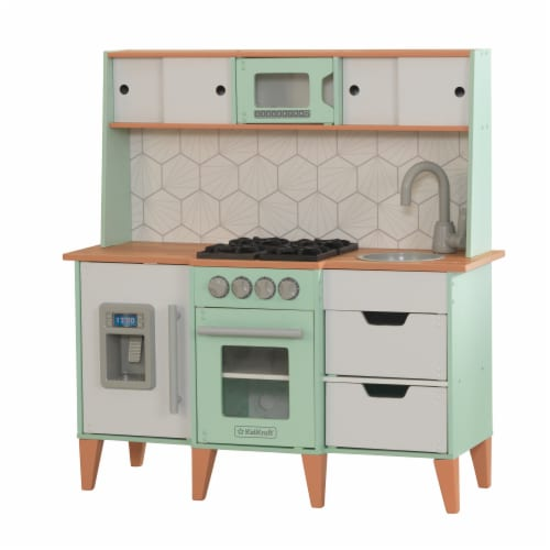 KidKraft Mid-Century Modern Play Kitchen with EZ Kraft Assembly™ Perspective: front