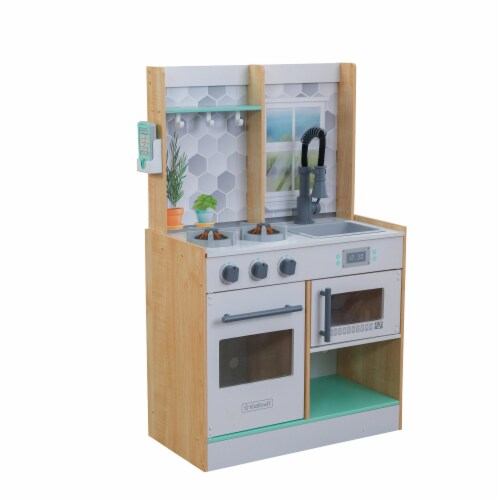 KidKraft Let's Cook Play Kitchen - Natural Perspective: front