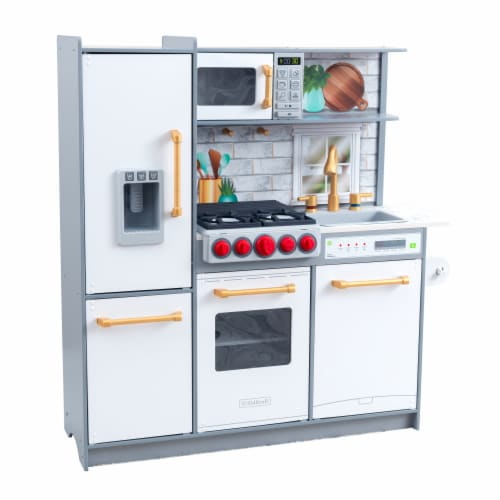 KidKraft Uptown Elite White Play Kitchen with EZ Kraft Assembly ™ Perspective: front