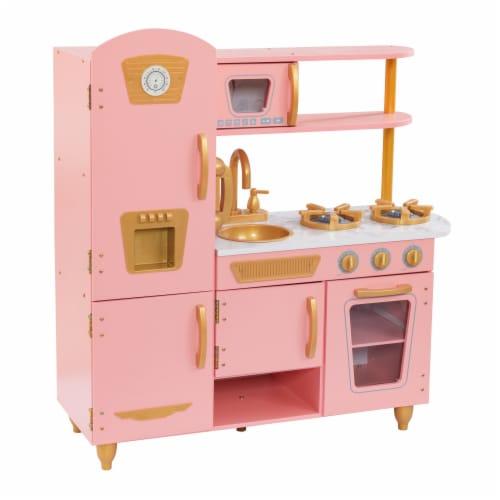 KidKraft Limited Edition Vintage Kitchen - Pink & Gold Perspective: front