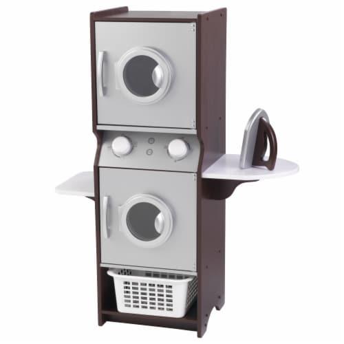 KidKraft Laundry Playset - Espresso Perspective: front