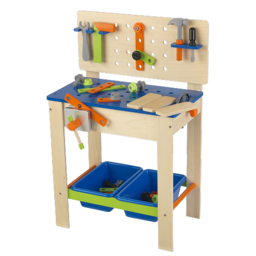 KidKraft Deluxe Workbench with Tools Perspective: front