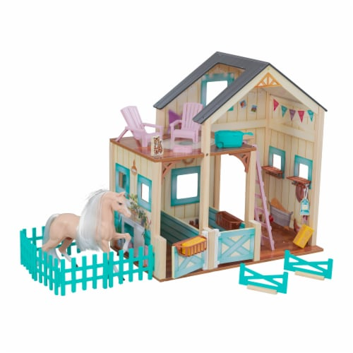KidKraft Sweet Meadow Horse Stable Perspective: front