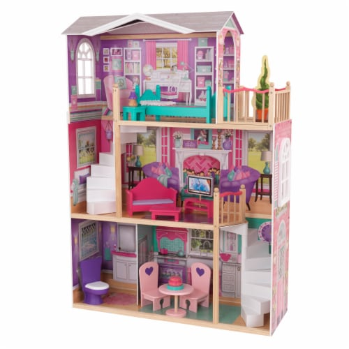 KidKraft 18-Inch Dollhouse Doll Manor Perspective: front