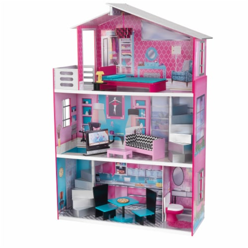 KidKraft Breanna Wooden Dollhouse for 18-Inch Dolls Perspective: front