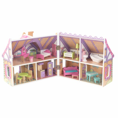 KidKraft Enchanted Forest Dollhouse Perspective: front