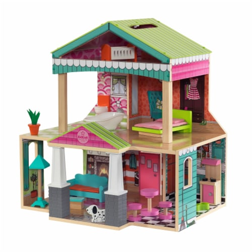 KidKraft Pacific Bungalow Dollhouse Perspective: front