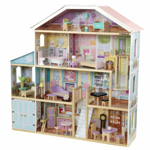 KidKraft Grand View Mansion Dollhouse with EZ Kraft Assembly™ Perspective: front
