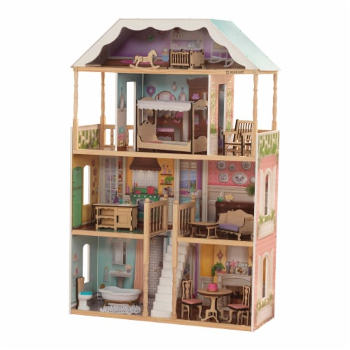 KidKraft Charlotte Dollhouse with EZ Kraft Assembly™ Perspective: front
