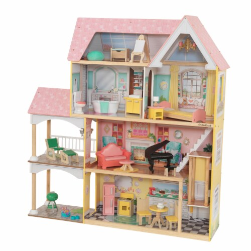 KidKraft Lola Mansion Dollhouse with EZ Kraft Assembly™ Perspective: front