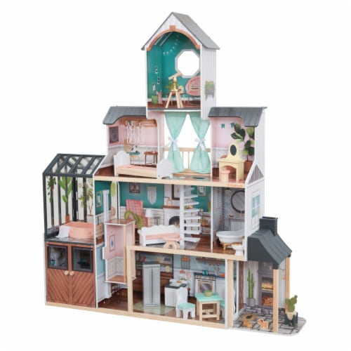 KidKraft Celeste Mansion Dollhouse with EZ Kraft Assembly™ Perspective: front