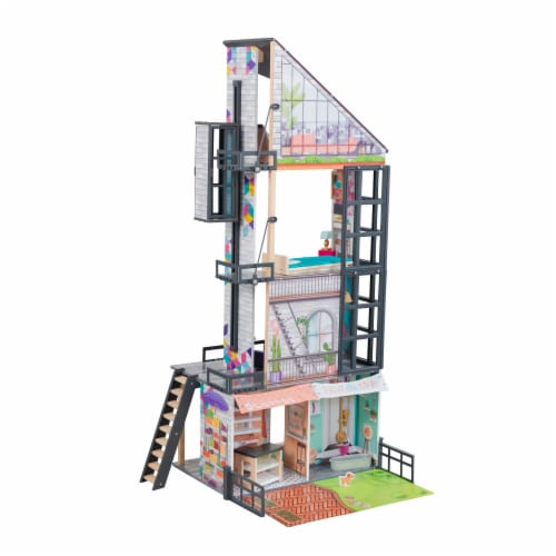 KidKraft Bianca City Life Dollhouse with EZ Kraft Assembly™ Perspective: front