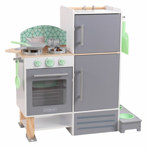 KidKraft 2-in-1 Kitchen and Laundry Perspective: front