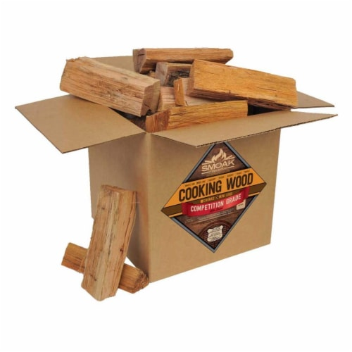 Smoak Firewood Kiln Dried Cooking Grade Wood Mini Logs, Hickory, 8-10 Pounds Perspective: front
