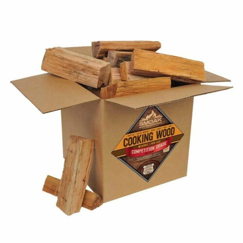 Smoak Firewood 25-30 Pound Hickory Kiln Dried USDA Cooking Grade Wood Mini Logs Perspective: front