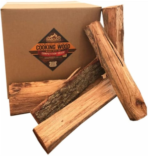 Smoak Firewood Kiln Dried Cooking Grade 16 Inch Wood Logs, Red Oak, 60-70 Pounds Perspective: front
