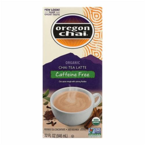Oregon Chai Caffeine Free Latte Perspective: front