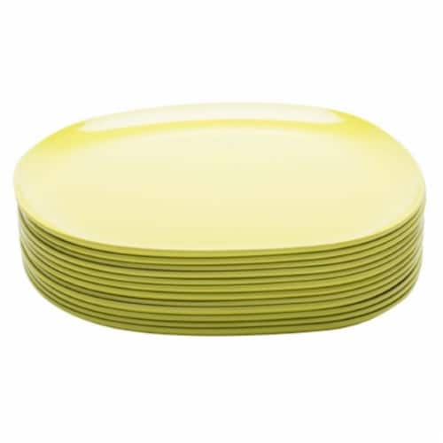 Zak Designs Kiwi Moso Bamboo Dinner Plate Perspective: front