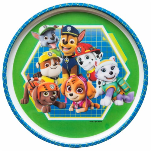 Zak Designs Paw Patrol Melamine Plate With Rim Perspective: front