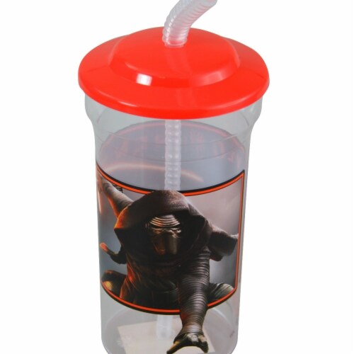 Star Wars 2326161 16 oz DDI Episode 7 Sports Tumbler with Straw, Red & Clear - Case of 396 Perspective: front