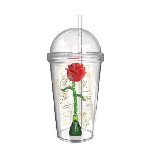 Beauty & The Beast 44369 Beauty & The Beast Beauty & The Beast Magic Rose Travel Cups Perspective: front