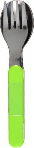 Zak Designs Children's Fork and Spoon Set - Green Perspective: front