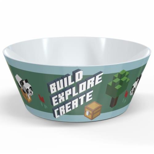 Zak Designs Minecraft Melamine Bowl Perspective: front