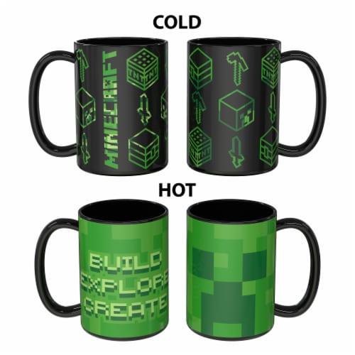 Zak Designs Large Minecraft Color Change Ceramic Mug Perspective: front