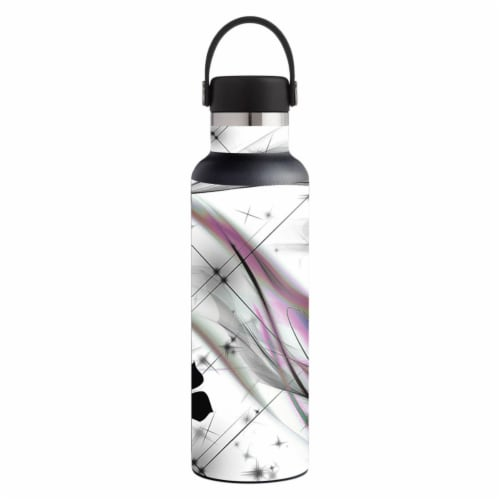 MightySkins HFST21-Gray World Skin for Hydro Flask 21 oz Standard Mouth - Gray World Perspective: front