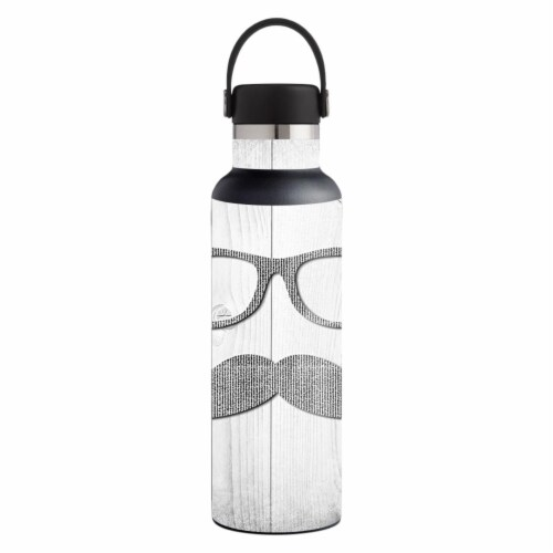 MightySkins HFST21-Hipster Skin for Hydro Flask 21 oz Standard Mouth - Hipster Perspective: front