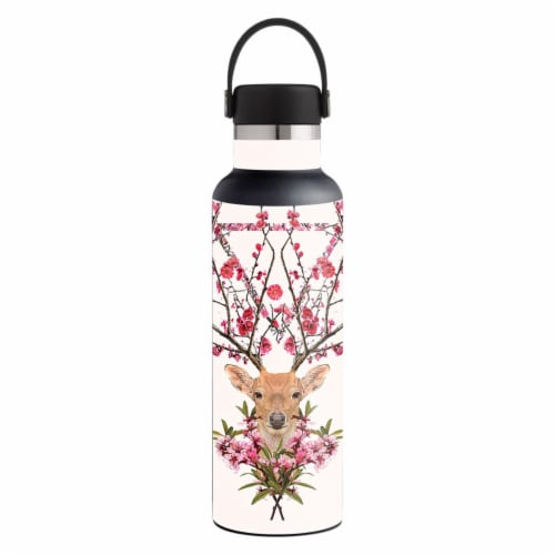MightySkins HFST21-Spring Deer Skin for Hydro Flask 21 oz Standard Mouth - Spring Deer Perspective: front