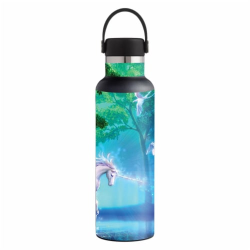 MightySkins HFST21-Unicorn Fantasy Skin for Hydro Flask 21 oz Standard Mouth - Unicorn Fantas Perspective: front