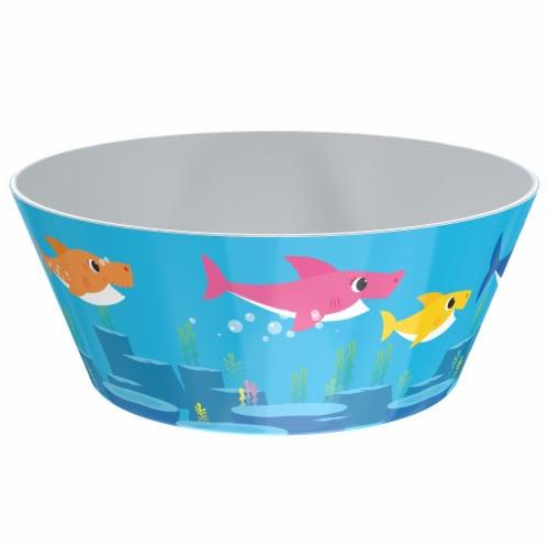 Zak! Baby Shark Melamine Bowl - Blue Perspective: front