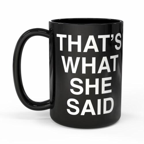 Zak!® Large Ceramic The Office Mug - Black Perspective: front