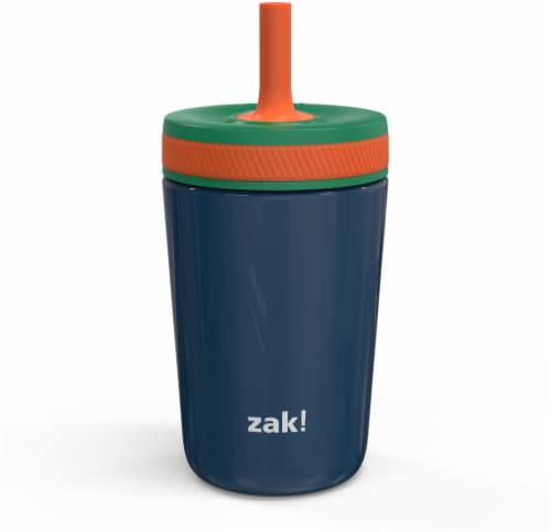 Zak Designs Stainless Steel Double Wall Vacuum Leakproof Tumbler - Navy Perspective: front