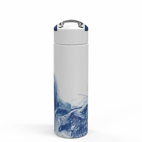 Zak Designs Stainless Steel Insulated Water Bottle - Nature Indigo Perspective: front