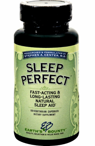 Earth's Bounty Sleep Perfect Natural Sleep Aid Vegetarian Capsules Perspective: front