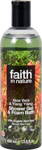 Faith in Nature  Shower Gel & Foam Bath Aloe Vera & Ylang Ylang Perspective: front