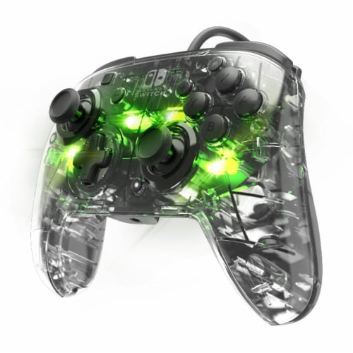 PDP Nintendo Switch Afterglow Wired Controller - Clear Perspective: front
