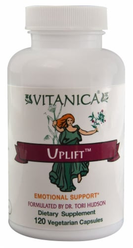 Vitanica Uplift Emotional Support Supplement Vegetarian Capsules Perspective: front