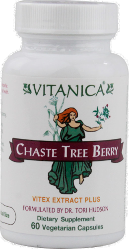 Vitanica Chaste Tree Berry Dietary Supplement Capsules Perspective: front